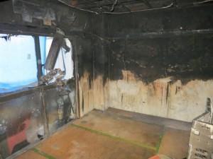 火災現場の片付け後