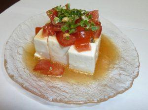 トマトの旨だれ豆腐