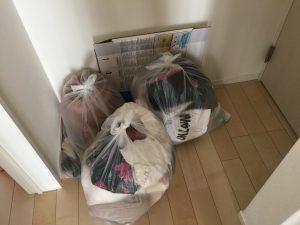 処分するゴミ袋