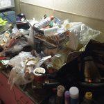 ワンルームのゴミ屋敷キッチン